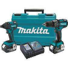 Makita Combo Kit XT248 18V LXT  Cordless Brushless Impact & Hammer Drill Kit Set