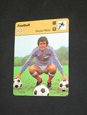 SPORTSCASTER FICHE CHAMPION PLATINI 1979 NANCY ASSE JUVENTUS FRANCE FOOTBALL