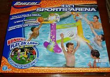 4-in-1 Sports Arena Basketball, Football, Water Polo,& Soccer play land or water