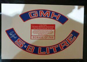 Engine Bay Dress Up Kit Stickers GMH 5.8 Litre Air Filter PETER BROCK