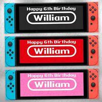 Nintendo Switch Mario Kart Personalised Banner 160gsm Party Paper Birthday Game Ebay