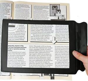 Large A4 Sheet Magnifying Glass Full Page 3X Magnifier Reading Aid Lens Big UK