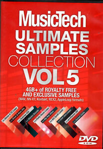 MUSICTECH  Ultimate Samples Collection Vol 5 2009 SOFTWARE DVD-ROM ONLY Preowned