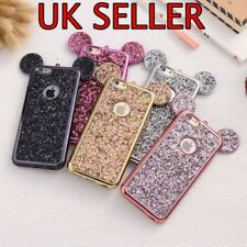 LUXURY Glitter for iPhone Disney Theme Mickey Minnie Mouse Ears Case Cover Bling
