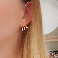 "Ohrringe Mini Hoop ""Stella"" 925 Sterling Silber Gold"