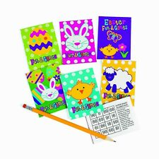Mini Easter Fun & Game Books, 12 Holiday Activity Pads, Favors, Basket Filler