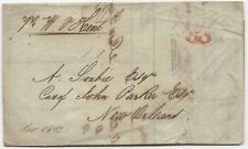 US Stampless Trans-Atlantic Ship Cover Folded Letter Liverpool July 16, 1846