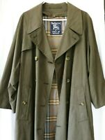 Men's Burberry Double Breasted Trench Coat with wool liner and belt.  Size 38S