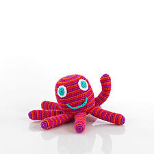 Octopus Rattle by Pebble - Pink/Purple-Customer Favorite! While Supplies Last!
