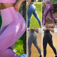 Womens Fitness High Waist Yoga Pants Butt Lift Leggings PUSH UP Trousers Workout