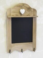 Scalloped Blackboard With 3 Hooks Key Holder Vintage  Memo Board Heart Detail