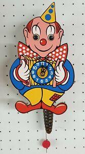 Kinder Wanduhr Clown , Bewegliche Augen, mech.Werk 26cm
