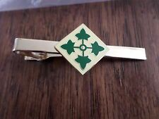 U.S MILITARY U.S ARMY 4th INFANTRY TIE BAR OR TIE TAC CLIP ON TYPE U.S.A MADE