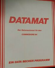 Datamat (Data Becker) Commodore c64 (disquete + manual) 100% aceptar pressed Disk