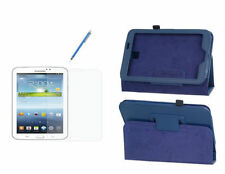 Blue Leather Unbranded/Generic Tablet eBook Cases, Covers & Keyboard Folios