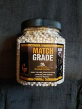 Match Grade 5,000 Count Airsoft BBs, Game Face Brand .20g Double-Polished New