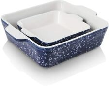 KOOV Ceramic Baking Dish Set of 2Square Baking Pan 8 x 8 inches & 6 x 6 inches