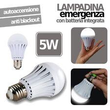 LAMPADINA LED EMERGENZA RICARICABILE 5W E27 ANTI BLACKOUT LUCE INTELLIGENTE