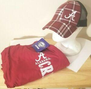 Alabama Crimson Tide NCAA Crimson School Logo Large Pajamas Pants & Cap Set