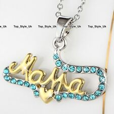 Blue Topaz Crystals Gold & Silver Mother Jewellery Gifts For Her Christmas S1