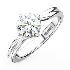 0.30CT Round Diamonds Solitaire Engagement Ring in 18K Gold