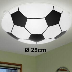 Design Decken Lampe Fußball Leuchte Glas schwarz weiß Spiel Zimmer Beleuchtung