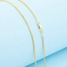 Wholesale DIY 1PCS 16-30inch Wholesale Jewelry 18K GOLD FILL Box Chain Necklaces