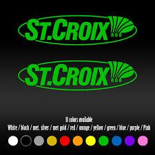 "6"" St. Croix Fishing Rods Diecut Bumper Car Window Vinyl Decal sticker"