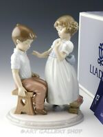 Lladro Figurine WITH ALL MY HEART BOY & GIRL LOVERS #6906 Retired Mint Box