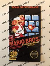 Super Mario Bros NES Nintendo Cartridge Replacement Game Label Sticker Die Cut