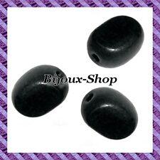 Lot de 6 perles bois Olive plate 24mm