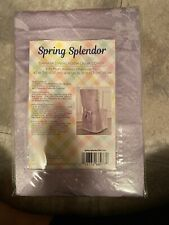 "Spring Splendor Damask Fabric 42"" x 21"" Armless Dining Chair Cover Light Purple"