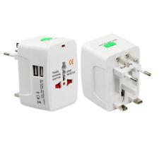UK/US/EU/AU World Travel Universal Adapter Converter With Dual USB Charger Plug