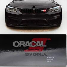 13,13€/m² Oracal 970RA Noir Brillant 070 Film auto jeter Conduit d'air