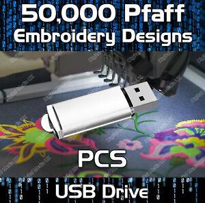 50,000 Pfaff embroidery pattern design files PCS on USB drive