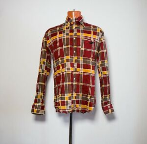Dolce Gabbana Men D&G Long Sleeve Plaid Shirt L size