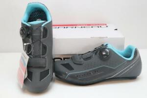 New Louis Garneau Women's Ruby Road Bike Shoes 38/39 Gray Cycling BOA 3-Bolt