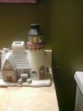 PartyLite Stoney Harbor Lighthouse Ceramic Tea Light Candles