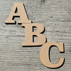 Wooden Letters Large Bold Small  3cm-30cm (3mm Thick) Craft Wall Signs Home Shop