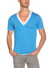 Eleven Paris Men's Basic Double V Neck T-Shirt