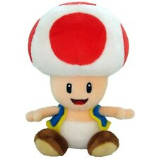 Super Mario Bros. Toad 7in Plush Doll Toy White