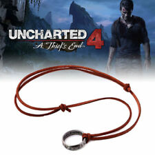 UNCHARTED Nathan Drake's collana con pendente ad Anello Cosplay GAME REGALO