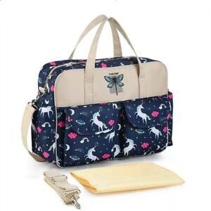 Navy unicorn baby Bag Multi-Function Mum bag Large Capacity Shoulder hand bag