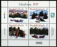 MARSHALL ISLANDS 2017 CHRISTMAS I  SHEET OF FOUR  MINT NH