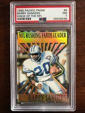 1995 Pacific Prism Kings of the NFL #8 Barry Sanders PSA 7 NM Detroit Lions $20