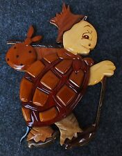 Wooden Turtle Wall Hanging From Hawaii Hard Wood New 8 in x 10 in Buy It Now $$