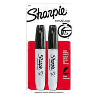 Sharpie, Permanent Markers, Chisel Tip, Black - 2 ct
