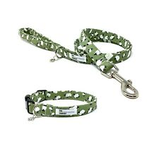 Sheep Print Dog Collar and Lead Set