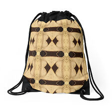 DRAWSTRING BACKPACK SHOULDER BAG w/Exclusive Solar Etched Design ~ 'Palms'