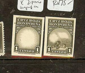 HONDURAS (P1008B) RED CROSS PROOFS EX ARCHIVES 2 ITEMS